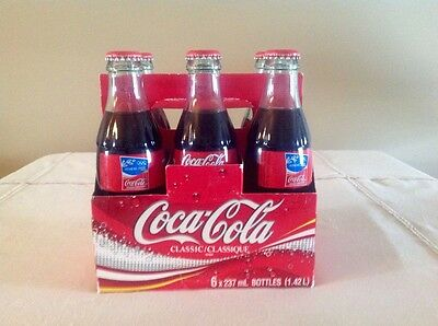 Six Pack Coca Cola 237ml Full Glass Bottles Sealed 2004 Athens Summer Olympics
