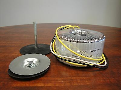170VA 115VAC to 24VAC Toroidal Transformer.  120V 60Hz Primary, 24VAC @7Amps sec