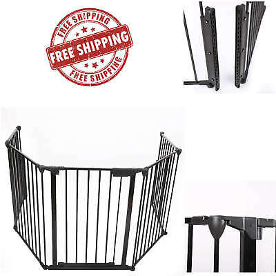 Fireplace Fence Baby Safety Fence Hearth Gate BBQ Metal Fire Gate Dog Pet Cat