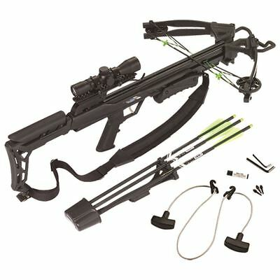 Carbon Express X-Force Blade Crossbow Black RTH Package Kit 320 fps Cross Bow