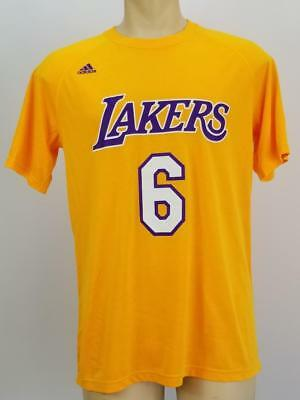 b31040cced4 NWD Adidas Men's Los Angeles Lakers Clarkson Ultimate Tee Yellow Lg. #4897A