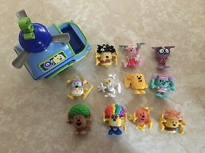 Wow Wow Wubbzy Wacky PVC Stacking Figures 2007 Mattel 2007 Bolder Media Huge Lot