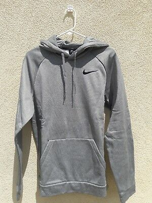 4e104d630e75 Mens Nike M Dri-fit Therma Pullover Hoodie Sweatshirt Carbon Heather Black  Med
