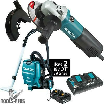 """Makita 9565PC SJS 5"""" Angle Grinder with Dust Guard and HEPA Vac New"""