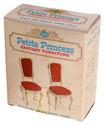 1964 Vintage Dollhouse Petite Princess Hostess Dining Chairs 4415-6 150 by Ideal