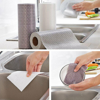 Disposable 50pcs/Roll Eco-Friendly Kitchen Cleaning Cloth Dusting Cloths
