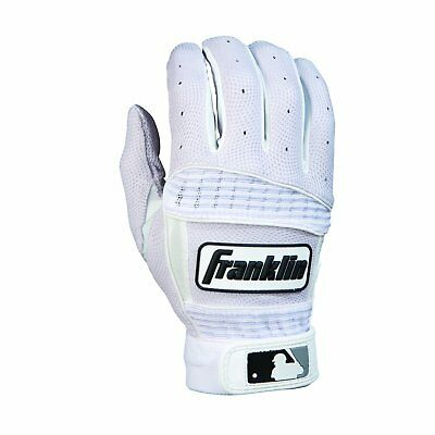 Franklin Sports MLB Adult Neo Classic II Series Batting Glove (White, Large)