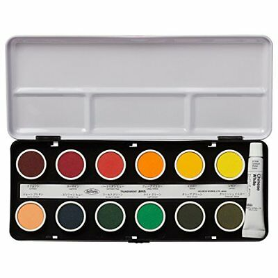 Holbein Solid Transparent Watercolors 24-color set C012 25mm Japan Free shipping