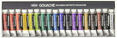 Holbein Opaque Watercolor Paint Gouache 18 colors set G704 5ml from Japan F/S