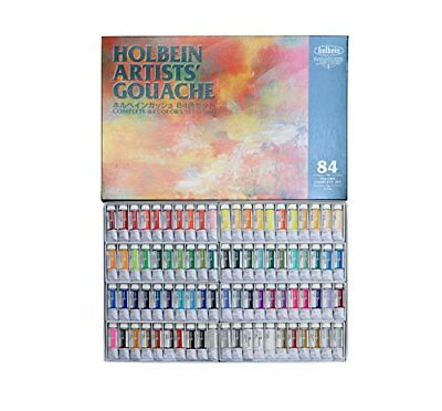 Holbein Opaque Watercolor Paint Gouache 84 color set G731 15ml from Japan F/S