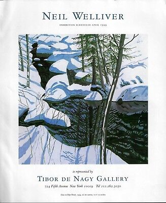 1999 Neil Welliver Snow in Hope Brook Art Gallery Exhibition Print Ad