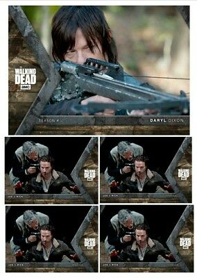 INTO THE HUNT DARYL DIXON (AIM) + 4x RICK&JOE Topps Walking Dead Trader Digital