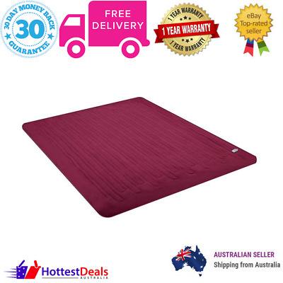 Electric Throw Blanket Washable Super Soft Plush Heated Winter Warmer Burgundy