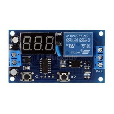 Multifunction LED 3digit Delay Time Module Switch Control Relay Cycle Timer 12V