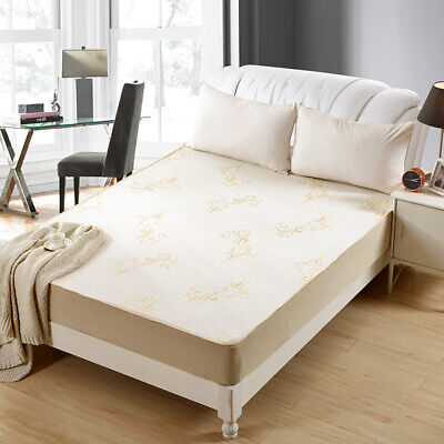 OctoRose High Quilted Chenille Waterproof Fitted Sheet Mattress Pads Protector.