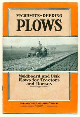 c1930 s McCORMICK DEERING PLOW s INTERNATIONAL HARVESTER CO CATALOG FARM TRACTOR
