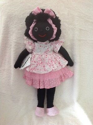 Mel & Steff rag doll.brand new ,with tag  .37cm .pretty pink dress .