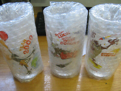 Ixl Collectables Looney Tunes Year 2000 Millennium, 6 Glasses Full Set.