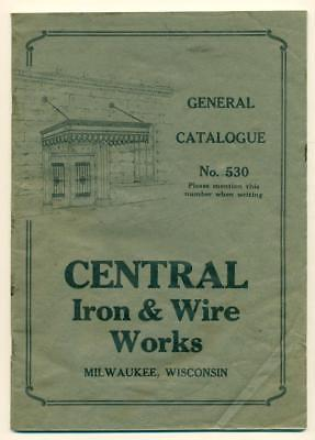 c1930s CENTRAL IRON & WIRE WORKS Milwaukee WISCONSIN FENCE GATE FIRE ESCAPE ETC.