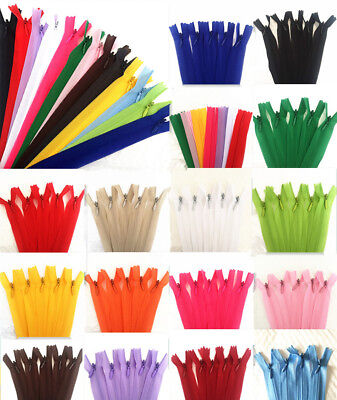 5-100pcs (11-16-22 inch) Nylon Invisible Soft tulle Coil Zippers Sewing