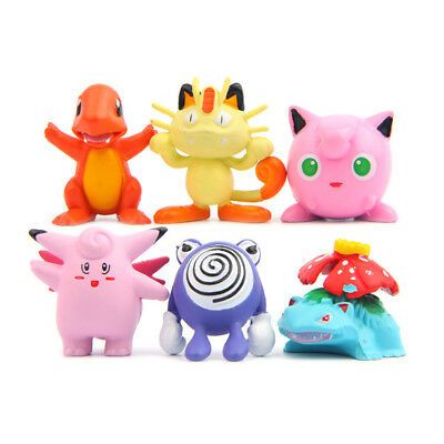 6Pcs Pokemon Go Figure Toys Collection Venusaur Jigglypuff Charmander Dolls New