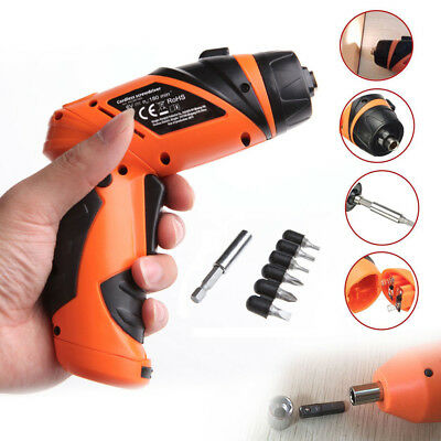 Mini Portable 6V Screwdriver Electric Drill Battery Operated Cordless HU