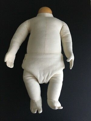 """1973 Bay Area Display Cloth Bendable Baby Mannequin 3 Months - 18"""" Long"""