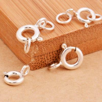 5mm Spring ring round Lobster Clasps finding connector for necklace&Bracelet New