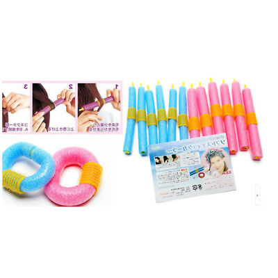 12Pcs DIY Sponge Foam Cushion Hair Styling Rollers Curlers Twist Witty Tools