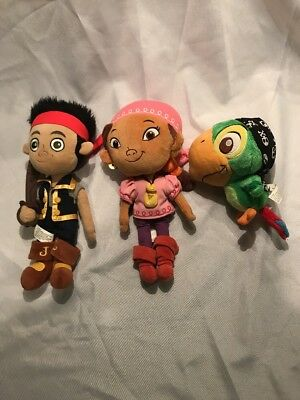 Disney Jake and the Neverland Pirates Plush Jake Izzy Skully Stuffed Toy
