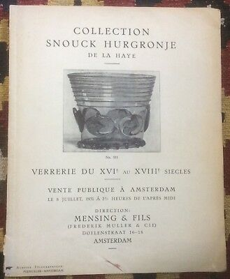 Verrerie du XVI au XVIII siecles. Collection Snouck Hurgronje