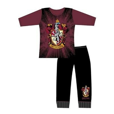 Girls Older Harry Potter Gryffindor Crest Pyjamas Hogwarts pyjamas PJs Age 5-12Y