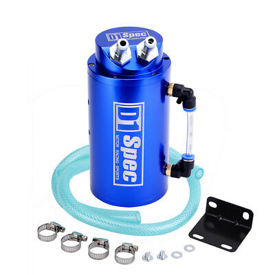 D1 SPEC BLUE ALUMINIUM OIL CATCH CAN for TURBO & TURBO DIESEL 4WD 4x4 500ml