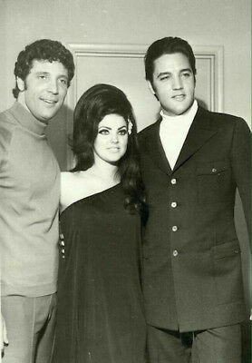 Elvis Priscilla Presley and Tom Jones POSTER
