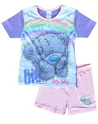 Girls Tatty Teddy Princess My Little Pony Shorty Pyjamas Top Short Set Age 4-12