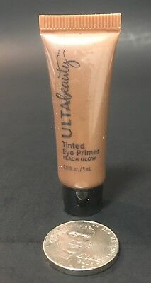 "ULTA BEAUTY TINTED EYE PRIMER Color : ""Peach Glow"" .17 fl oz / Deluxe Sample NEW"