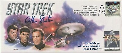 WILLIAM SHATNER AUTOGRAPH STAR TREK 25th ANNIVERSARY OFFICIAL STAMP CACHET W/COA