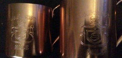 Set of 2 Vintage Smirnoff Moscow Mule Metal Copper Mugs  BEST PRICE!