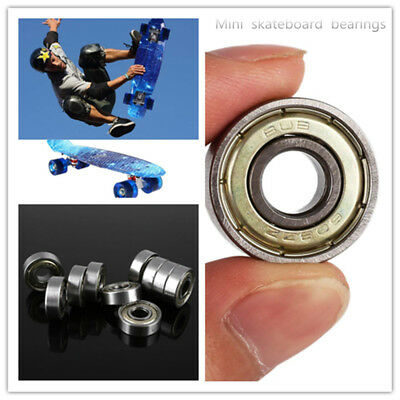 10PCS 608zz Deep Groove Ball Bearing Carbon Steel For Skateboard Roller Blade.