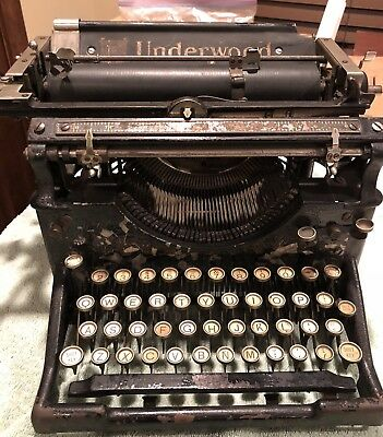Antique 1916 Underwood Standard Manual Typewriter No. 5 #857329