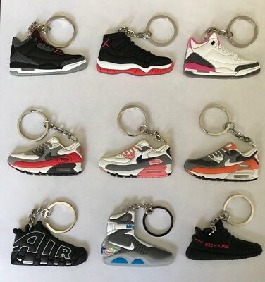 2017 NEW Nike Air Jordan Retro 4 11 12 13 14 23 Sneaker keychains XI Space Jam