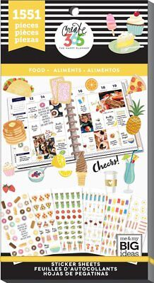 Happy Planner Sticker Value Pack - Yummy Food 1551 stickers MAMBI Planning