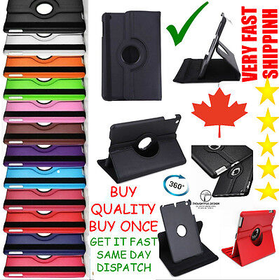 New Ipad 5Th Gen 2017 9.7 Inch 360 Rotating A1822 A1823 Case Stand Cover Smart