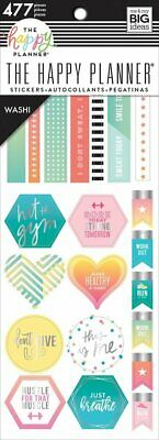 Happy Planner Washi Sticker Book - Fitness 477 Washi stickers MAMBI Planning