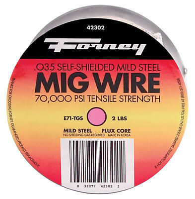 FLUX CORE WIRE .035 2 # , Forney 42302, UPC: 032277423022