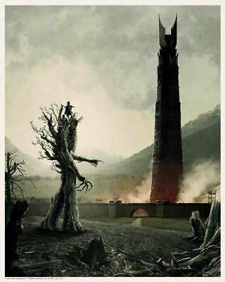 """Lord of the Rings Art Print by TOLKEIN * TWO TOWERS  8"""" x 10"""" Loot Crate LOTR!"""
