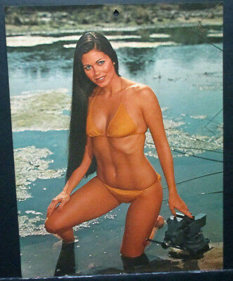 Ridgid January 1976 Pinup Calendar Lithograph Page Machinist Vise Peter Gowland
