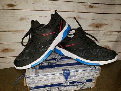 841b0f0e693be Champion Men 11.5 memory foam running shoes black white red sneakers  athletic
