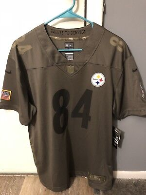 buy popular 08e85 b69cd NEW PITTSBURGH STEELERS Antonio Brown Nike Salute To Service ...