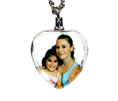 Personalised Photo Color Crystal heart pendant 23mm x26mm